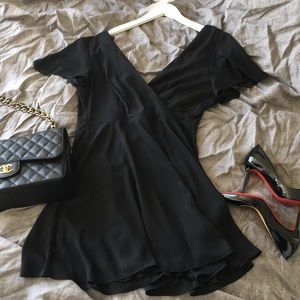 Express silky black little dress